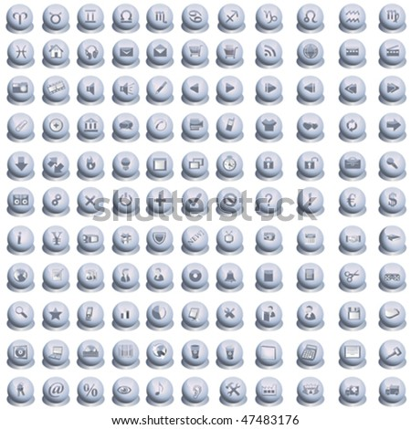 Huge collection of web icons - stock vector