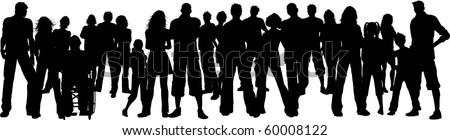 Huge group of people