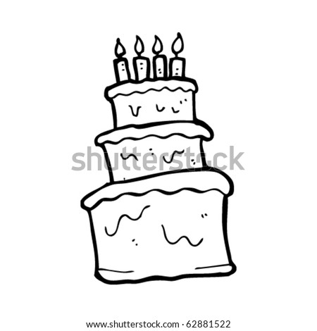 happy birthday cake cartoon. happy birthday cake cartoon.
