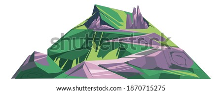 huge hill with green grass