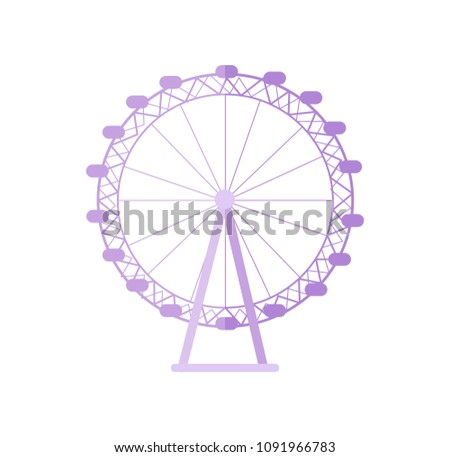 huge london eye as popular