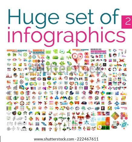 huge mega set of infographic