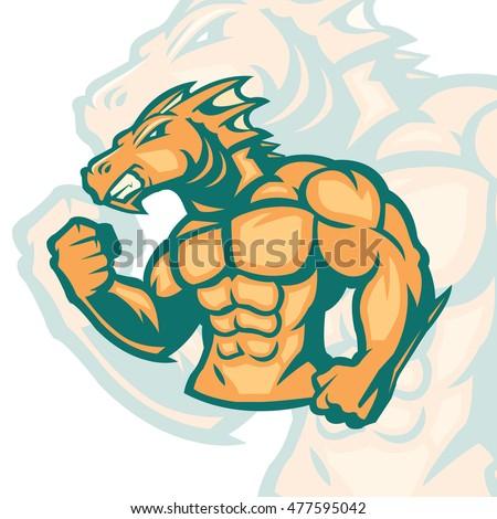Huge muscle of dragon #477595042
