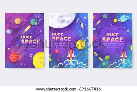 huge universe  vector brochure