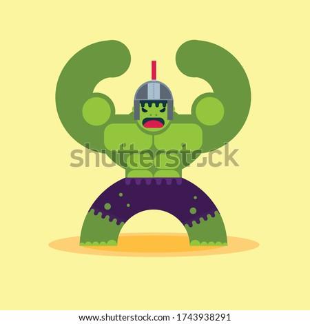 hulking super hero warrior with