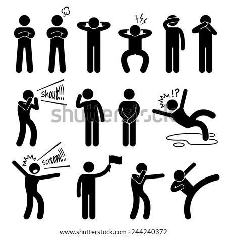human action poses postures