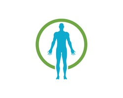 Human anatomy of man vector illustration