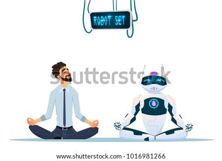 human and robot meditation