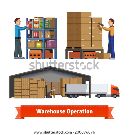 human and robotic warehouse