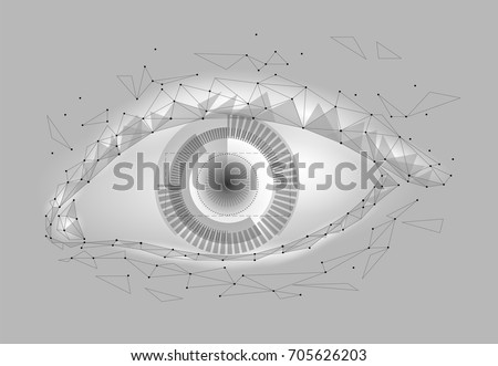 human android cyborg eye