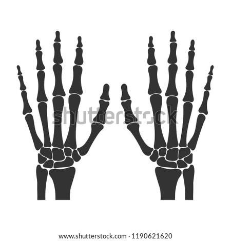 Human black wrists isolated on white background. Vector illustration