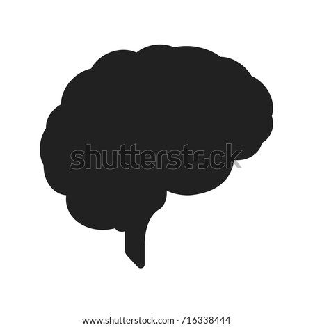 human brain icon. brain mind idea creativity image pictogram. human brain for medical healthy memory anatomy design.