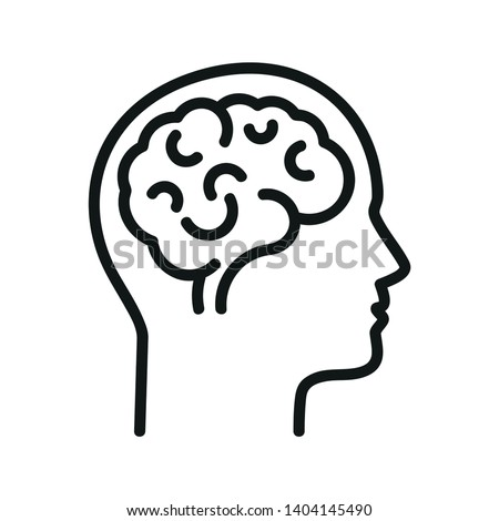 Human brain.  Isolated vector icon Foto stock ©