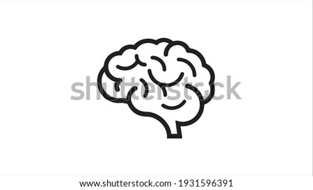 Human brain medical vector icon illustration isolated on white background
