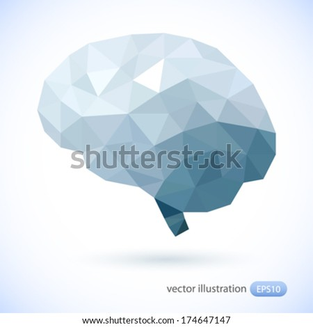 Human brain. Vector illustration.