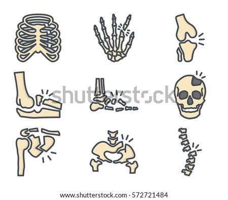 human broken bones icon