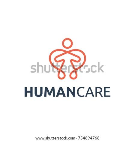 Human Care Logo. Care Logo Vector.  People Care Logo.