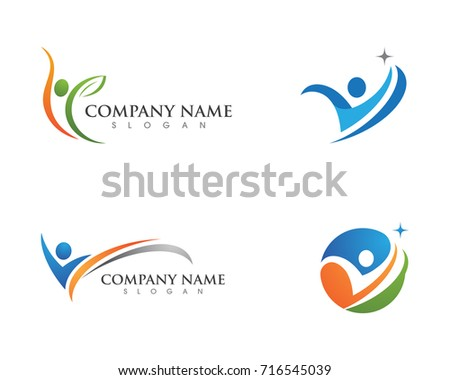 Human character logo sign Health care logo sign