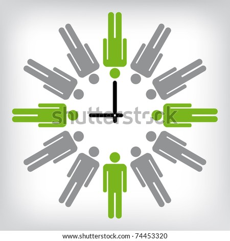 Human clock conceptual illustration