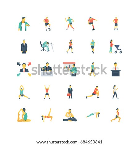 Human Color Vector Icons