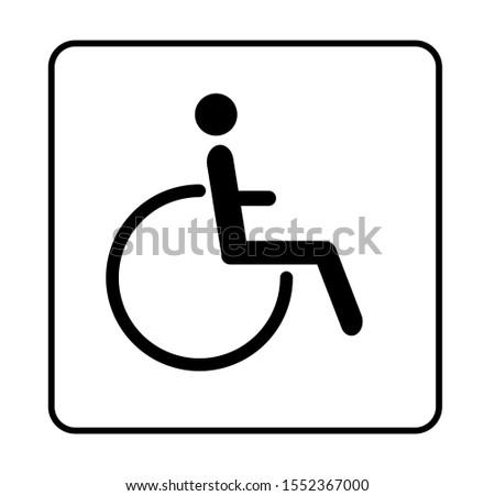 human disable symbol, wheelchair vector symbol