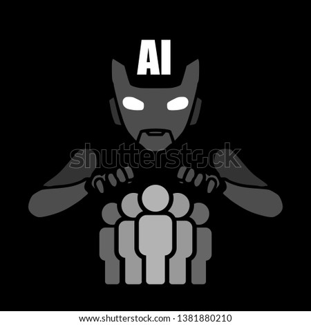 human domination by ai android