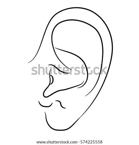 ear icon outline illustration of ear vector icon for web ez canvas