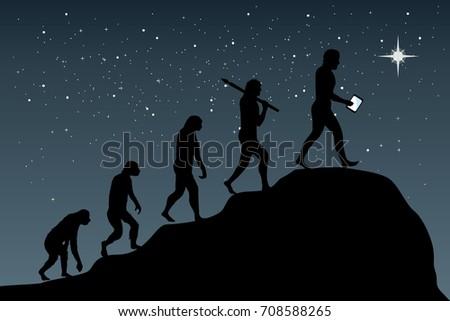 human evolution into the