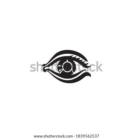 Human eye vector illustration isolated on white background