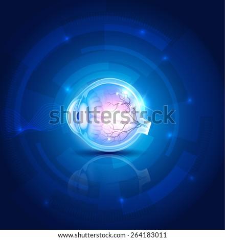 human eye vision  abstract blue