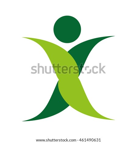 human figure silhouette green icon vector isolated graphic #461490631