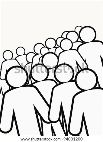 human figures - stock vector
