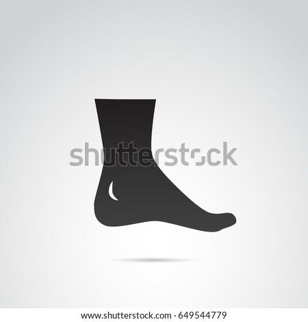 human foot  leg icon isolated