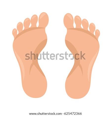 human foot plant icon