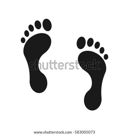 Human footprint icon. Vector illustration.
