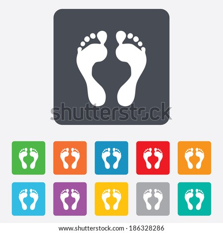 human footprint sign icon