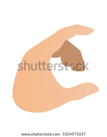 human hand acting as holding