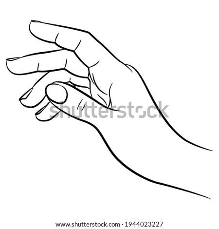 human hand black and white