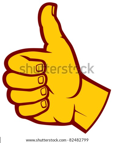 Human hand giving ok (Vector hand showing thumbs up)