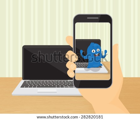 human hand holds spmartphone