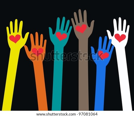 human hand love - stock vector