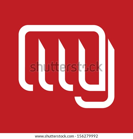 human hand punching icon