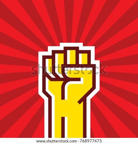 human hand up proletarian