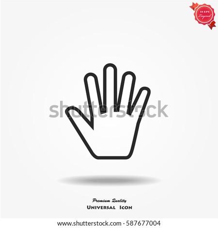 Human hand vector icon