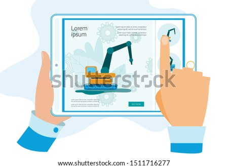 human hands holding tablet with