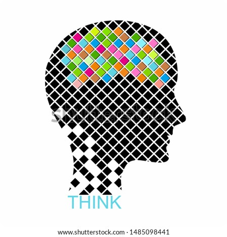 Human head creating a new idea, Creative Idea,Creative brain
