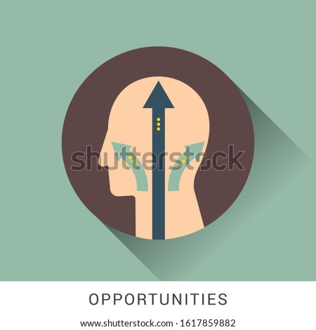 Human head opportunity icon. Simple illustration of human head opportunity vector icon