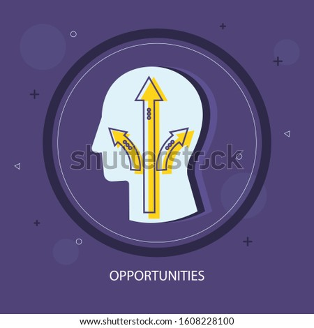 Human head opportunity icon. Simple illustration of human head opportunity vector icon for web design