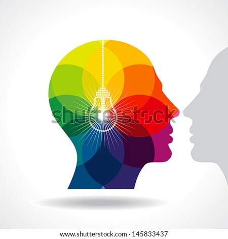 human head thinking a new idea