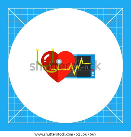 Human Heart as Cardiology Concept Icon